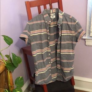 Old Navy short-sleeve horizontal stripes button-up